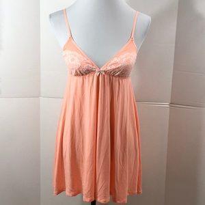 Victoria's Secret peach babydoll chemise NWT